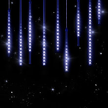 Guirlande lumineuse LED 6,6 m 480 LED effet pluie