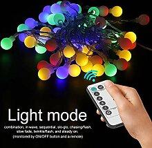 Guirlande lumineuse LED à 8 fonctions pour jardin