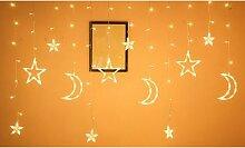 Guirlande lumineuse LED étoiles et lune: x2 /