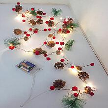Guirlande lumineuse LED fil de cuivre cone de pin