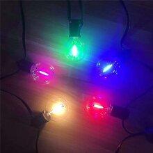 Guirlande lumineuse LED G40 colorée, ampoules en