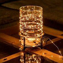 Guirlande lumineuse LED lampe deco fil de cuivre