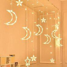 Guirlande lumineuse Led, lune, étoile, pour