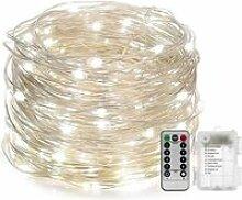 Guirlande Lumineuse Pile avec Télécommande - 10M