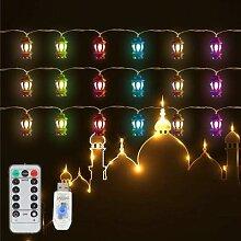 Guirlande lumineuse pour Ramadan Eid, 20led, 9,8