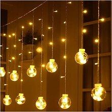 Guirlande lumineuse rideau boule de souhait, 3M,