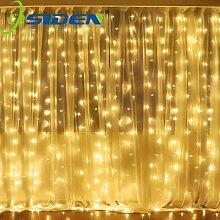 Guirlande lumineuse rideau de 3x1m et 3x3m, 300 V,