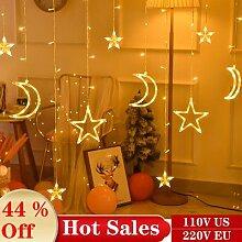 Guirlande lumineuse rideau de fées, 3.5M, 220V,