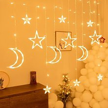 Guirlande lumineuse rideau de noël, nouvel an,