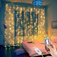 Guirlande lumineuse rideau LED, 1/2/3M,