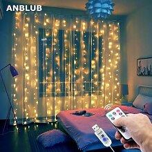 Guirlande lumineuse rideau LED pour fenêtre,