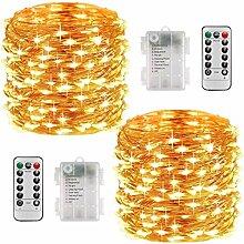 Guirlande Lumineuse Solaire, 20M 200 LED Exterieur
