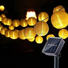 Guirlande Lumineuse Solaire, 40 LED Lampion