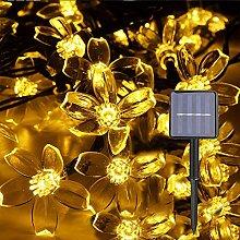 Guirlande lumineuse solaire à 20 LED - Fleurs de