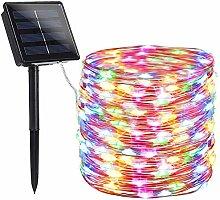Guirlande lumineuse solaire à LED - 20 m - Fil de