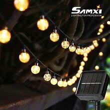 Guirlande lumineuse solaire à LED, conforme à la