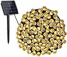 Guirlande lumineuse solaire Aluogen - 12 m - 100