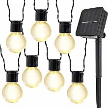 Guirlande Lumineuse Solaire Ampoules,KINGCOO