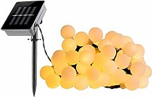 Guirlande lumineuse solaire ampoules rondes 60 LED