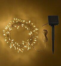 Guirlande Lumineuse Solaire avec 200 LED Blanc