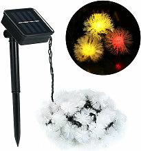 Guirlande lumineuse solaire boule de fourrure 50