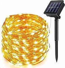 Guirlande Lumineuse Solaire, ECOWHO 22M 200 LED