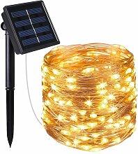 Guirlande lumineuse solaire en cuivre 200 micro