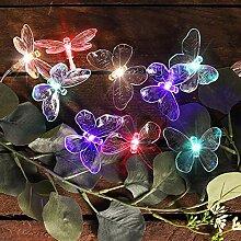 Guirlande lumineuse solaire en forme de papillon