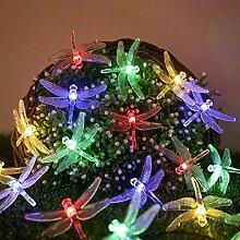 Guirlande lumineuse solaire libellule 50LED 8