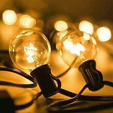 Guirlande lumineuse vintage, 25 ampoules, 25