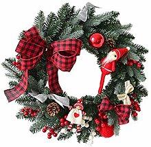 Guirlande Noel,Christmas Cheminee Couronne Porte