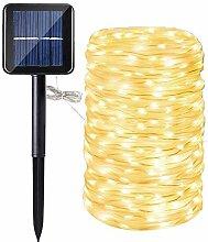 Guirlande Ruban Lumineuse Solaire,DINOWIN 200 LEDs