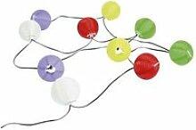 Guirlande solaire 10 lampions multicolores