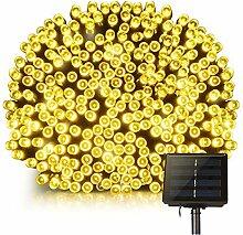 Guirlande solaire 200 leds plastique noir 16.90m