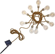 Guirlande solaire à corde corde beige 7.45m