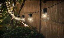 Guirlande solaire avec 10 ampoules LED : x 2