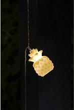 Guirlande solaire avec 10 Ananas - Galix
