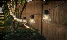 Guirlande solaire de 10 ampoules : x2