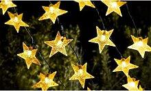 Guirlande solaire étoiles LED : x 1
