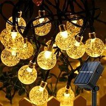 Guirlande Solaire Exterieur, 8m 50 LED Boule