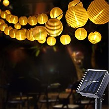 Guirlande Solaire Exterieur, Geemoo 30 LED Lampion