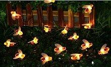 Guirlande solaire LED abeille : x 2