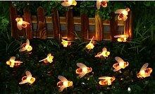 Guirlande solaire LED abeilles : 1