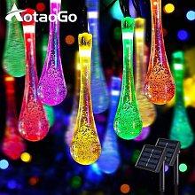 Guirlande solaire LED imperméable multicolore,