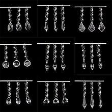 Guirlande suspendue de perles en cristal