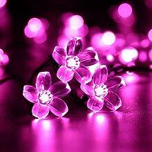 Guirlandes Ampoules Solaires Fleur,KINGCOO