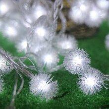 Guirlandes de Boules de Neige, 8.2ft / 20 LED