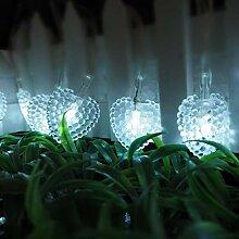 Guirlandes Solaires Extérieures, 20ft 30 LED
