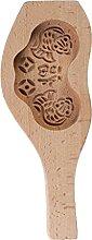 gulang-keng Moule rond en bois sculpté 3D, motif