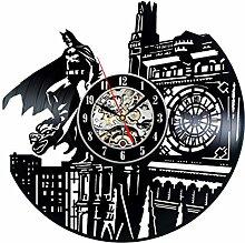 Gullei.com Batman Thème Fait Main Vintage Horloge